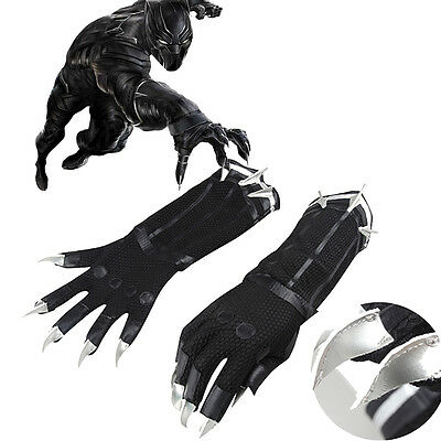 Captain America 3 Civil War:Black Panther T'Challa Cosplay Gloves Only