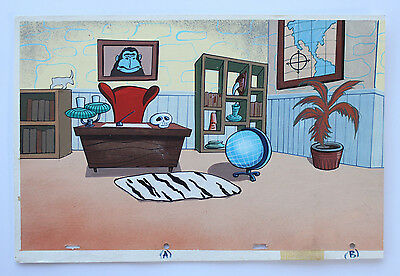 Ren & Stimpy Untamed World Pan Production Background Cel Cell And Animation Art