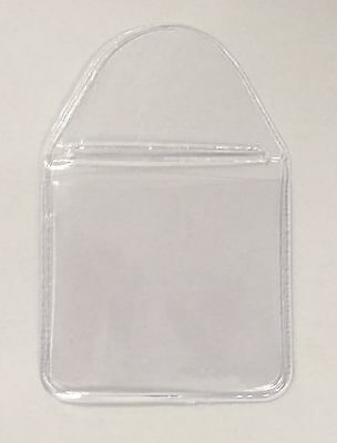 Plastic Clear coin Holders wallets 1.5 x 1.5 ( inch) tuck in flap storage £2 £1