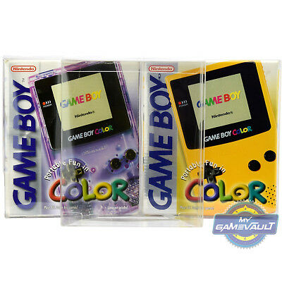 1 Game Boy Color Box Protector for Console STRONG 0.5mm PET Plastic Display Case