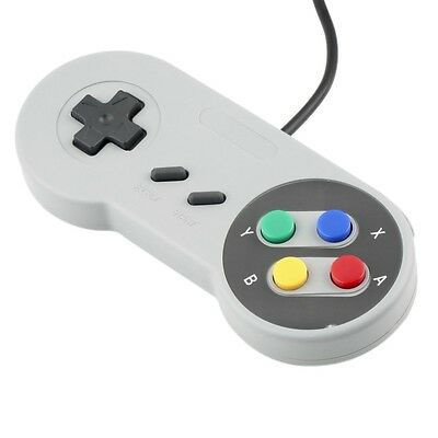 SNES Wired USB Controller PC Mac For Super Nintendo Gamepad Controller NEW