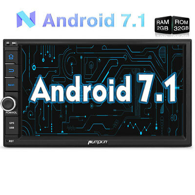 "UK Android 6.0 Double 2 Din 7"" Sat Nav Car Stereo GPS DAB+ Bluetooth Radio WiFi"