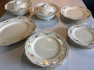 Alfred Meakin Vintage Dinner Set Service With Tureens