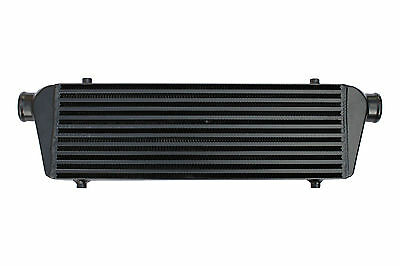 "Black universal large front mount intercooler 550mm x 180mm x 65mm 2.25"" 57mm"
