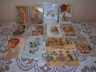 Vintage Trade Card Lot  victorian, Drug store, perfume, boots  old advertising