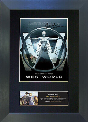 WESTWORLD Signed Mounted Autograph Photo Reproduction Prints A4 613