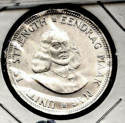 1964 South Africa 20 cents silver CH UNC.FREE S/H