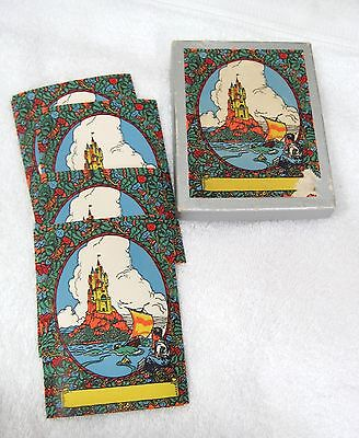 Antioch Bookplates 20 Boy Day Dreaming of Sail Boat  and Castle T8