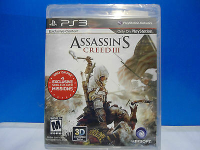 Assassin's Creed Iii (Sony Playstation 3 ) Brand New Factory Sealed