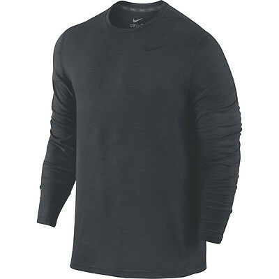 NWT Nike Men's Dri-Fit Dry Long Sleeve Training Shirt Size 2XL Anthracite 742232