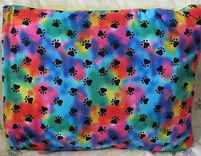 Quillow - Paw Prints (Blanket in a Pillow) with Yellow Fleece Back
