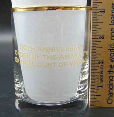 50th Anniversary Order of the Amaranth Grand Court of Virginia Low Ball Glass