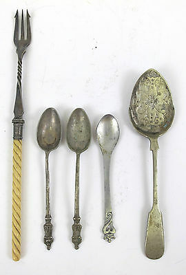 Lot of Assorted Antique & Vintage Silver Plated Flatware Spoons & Forks