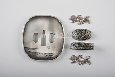Alloy TSUBA SET Hand guard Sword Accessary For Japanese Katana Wakizashi Tanto