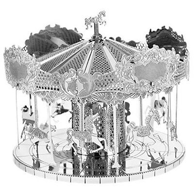 Fascinations Metal Earth Merry Go Round Laser Cut 3D Model Carousel
