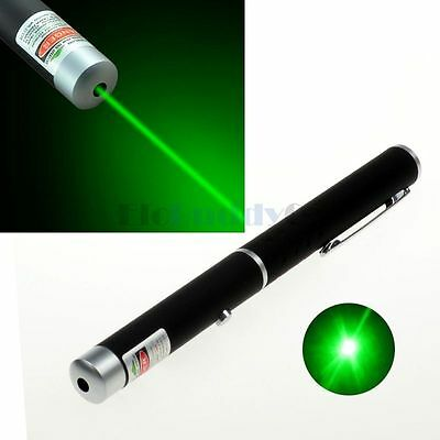 New Powerful Green Laser Pointer Pen Beam Light Lazer 5MW PPT Meeting Teach
