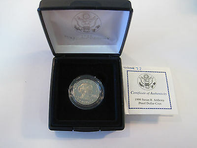 1999 P US Mint Susan B. Anthony One Dollar $1 Proof Coin *7905