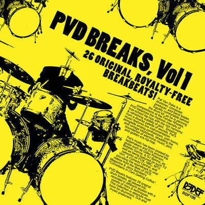 Pat Van Dyke Pvd Breaks Vol 1 (Royalty Free Breaks) Vinyl LP NEW sealed