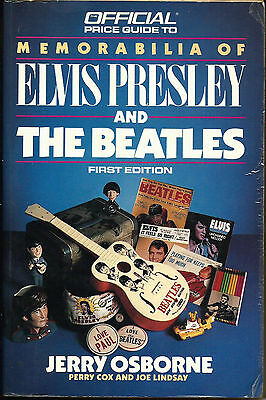 1988 Memorabilia of Elvis Presley and the Beatles Guide  by Jerry Osbone 1st Ed