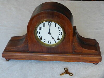 Vintage Mantel Clock with Key for Parts
