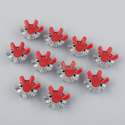 14 PCS Gray&Red Golf Shoes Spikes Fast Twist Tri-lok Replacement Fit Footjoy