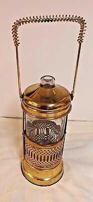 Vintage Whiskey Decanter - Musical - Plays 'How Dry I Am' ~ Goldtone w/Handle