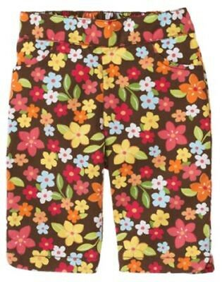 NEW GYMBOREE girls summer coconut brown floral capri pants size 6-12 months