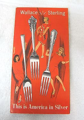 1966's Wallace Sterling Silver Flatware Brochures w Price and Pattern List T2