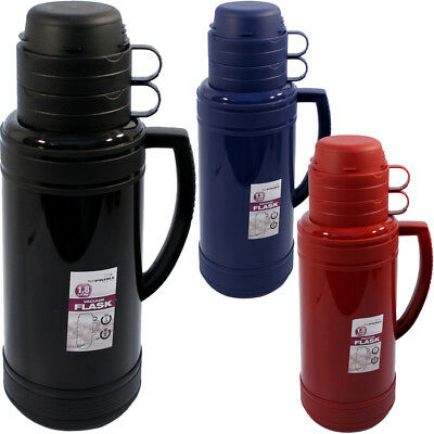 1.8L Thermal Flask Vacuum Jug With 2 Cups 1.8Ltr Vacuum Flask Pms