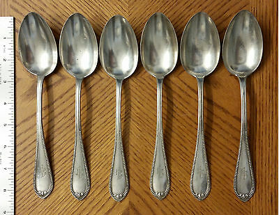"Qty 6 – S. J. & Co. 90 Table Spoons .90 Coin Silver 428 Grams - 8 3/8"" long"