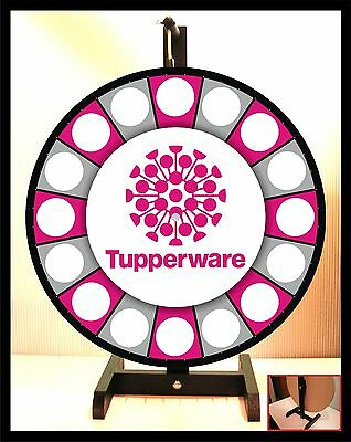 """Prize Wheel 18"""" Spinning Tabletop Portable Tupperware"""