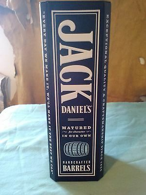 Empty JACK DANIELS Old No7 Whiskey Collector Metal Tin Can Box 750ml