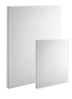 "Economy Stretched Canvas Panels : 16X20 Box of 20 Bulk Discount 5/8"" Econo White"