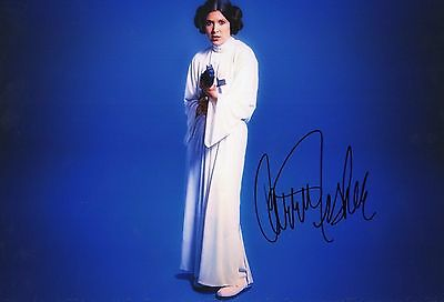 Authentic Signed Carrie Fisher  Star Wars 12 X 8 Photo..real Signature.coa