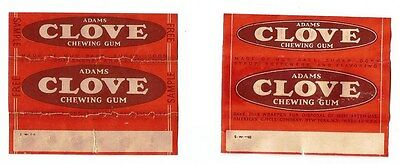 !!!RARE!!! Vtg 1941 & 1948 (2) American Chicle Chewing Gum Wrappers Adams Clove