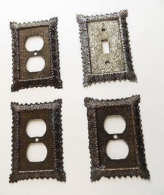 Vintage Lot of Metal Switch Plate / Outlet Covers