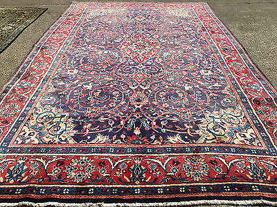 7x11 HAND KNOTTED PERSIAN IRAN AREA RUG WOVEN WOOL rugs 7 x 11 antique 8 10 12 9