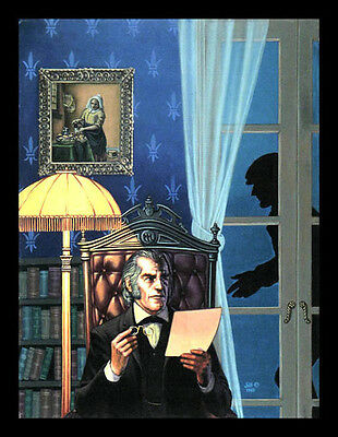 Sherlock Holmes/Moriarty Mystery, Signed Limited Edition PRINT by Jill Bauman