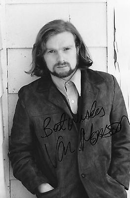 Authentic Signed Rare Van Morrison 12 X 8 Early Photo..real Signature..coa..