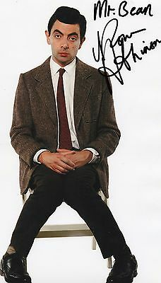 Authentic Rare Rowan Atkinson Mr Bean Signed 12 X 8 Photo..real Signature..coa