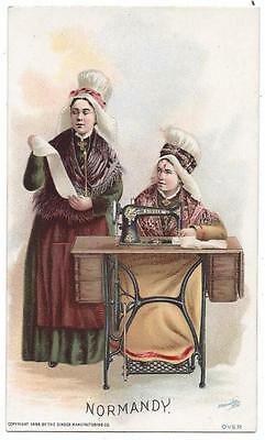 Singer Sewing Costumes of the World Trade Card - J. Ottmann Lith - Normandy