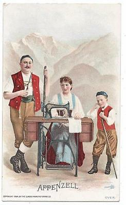 Singer Sewing Costumes of the World Trade Card - J. Ottmann Lith - Appenzell