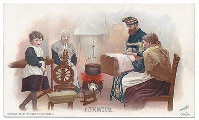 Singer Sewing Costumes of the World Trade Card - J. Ottmann Lith - Lerwick