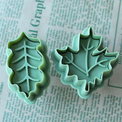 Cookie Baking Cutter Diver Pie Crust Cutters Biscuit Mold Leaves New 4 pcs /Set