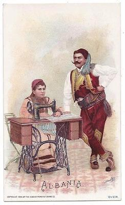 Singer Sewing Costumes of the World Trade Card - J. Ottmann Lith - Albania