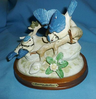 Vintage Cameo Collection  Blue Birds   Figurine - New Listing