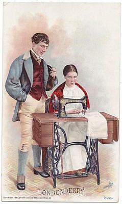 Singer Sewing Costumes of the World Trade Card - J. Ottmann Lith - Londonberry