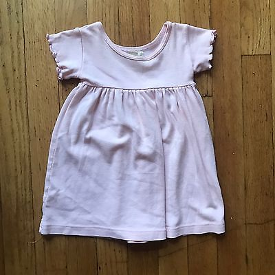 Peek Little Peanut Baby Girls Pink Short Sleeve Dress Size S 3-6 Months