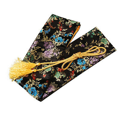 "27"" Black Blooms Silk Sword Bag for Japanese Samurai Sword Tanto storage keeping"