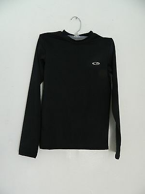 Champion Black Stretch Athletic Top Kid's Size M Long Sleeve